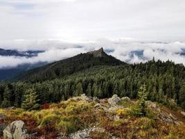 vista aerea della cima della montagna