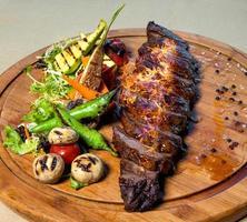 bistecca con le fiamme