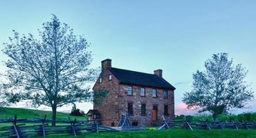 vecchia casa di pietra campo di battaglia di manassa foto