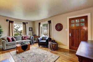 interno del soggiorno in casa americana foto