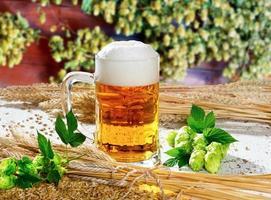 natura morta con birra foto