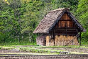 villaggio tradizionale e storico giapponese ogimachi - shirakawa-go, giappone foto
