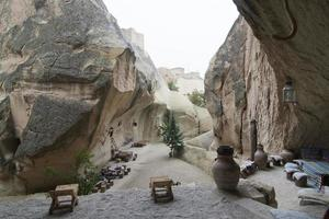vecchia casa troglodita, cappadocia, turchia