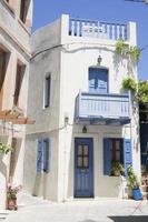 vecchia casa greca a mandraki, nissiros, grecia foto