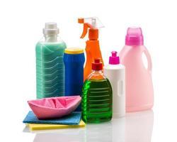 contenitore di plastica del prodotto di pulizia per la casa pulita foto