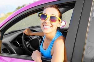 automobilista felice