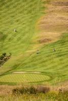 vista sul campo da golf e sulla spiaggia di zarautz.
