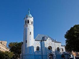 chiesa di st. elizabeth (1913) a bratislava, in slovacchia foto