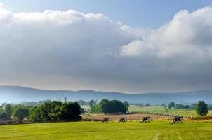 panorama del campo di battaglia di antietam foto