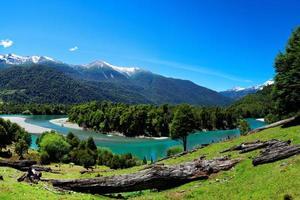 fiume in patagonia, el pangue, cile foto