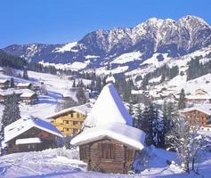 inneralpbach, alpbachtal, tirolo, alpi, austria foto