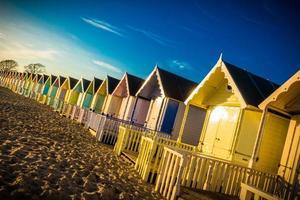 capanne sulla spiaggia   immagine stock foto