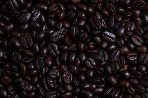 vista dall'alto di chicchi di caffè foto