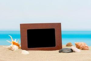 cornice di foto sulla spiaggia