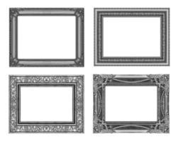 set 4 telaio grigio vintage con uno spazio vuoto, tracciato di ritaglio foto