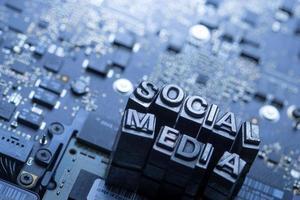 icona di social media e blog di stampa tipografica foto