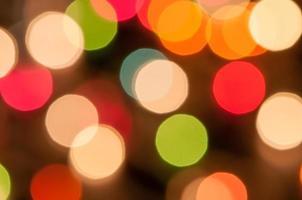 sfondo bokeh di luce natalizia foto