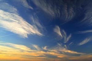cielo blu. foto