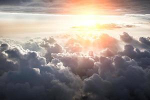 bellissimo sfondo del cielo blu foto