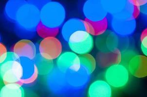 sfondo bokeh di luce natalizia