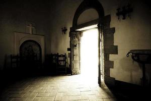 cappella all'interno del castillo di amarosa, napa claifornia foto