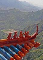 statuette di qilin e drago, Cina foto