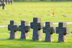 la cambe, croci del cimitero foto