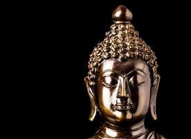 statua del buddha isolata