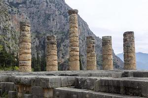 il tempio di apollo a delfi in grecia