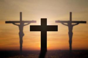 croce con bellissimo sfondo