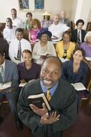 predicatore e congregazione foto