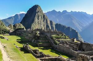 costruzione di rovine a machu picchu, perù