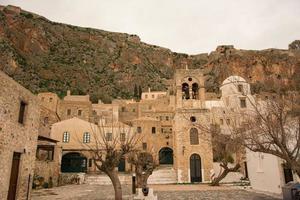 campanile di una chiesa, monemvasia, grecia
