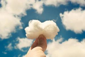 nuvola di cotone foto