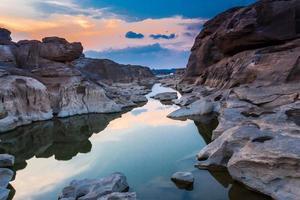 incredibile sam phan bok e grand canyon a ubon, thailandia. foto