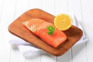 filetto di salmone fresco foto