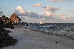 località caraibica e spiaggia