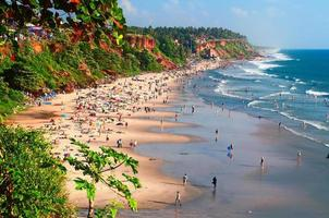 spiaggia di varkala foto