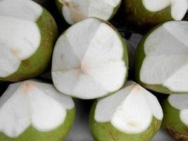 sfondo di texture di noci di cocco. foto