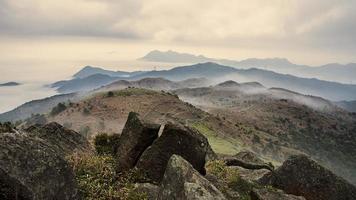 nebbia mattutina foto
