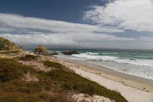 spiaggia solitaria, isola del nord, nuova zelanda