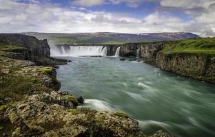 godafoss, una bellissima cascata foto