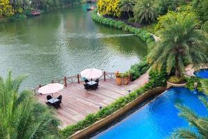bellissimo giardino d'acqua