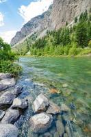 fiume di montagna in British Columbia, Canada.
