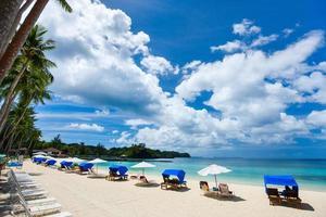 bella spiaggia tropicale all'isola esotica