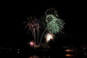 celebrazione di fuochi d'artificio foto
