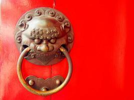 maniglia della porta del tempio cinese