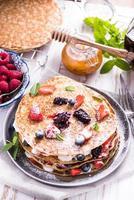 che celebra la giornata del pancake con crepes