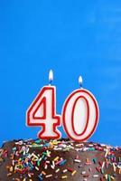 festeggia quarant'anni foto