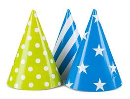 cappello da festa isolato su uno sfondo bianco foto
